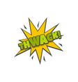 comic boom thwack icon flat style vector image vector image