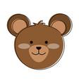 cute bear cartoon vector image vector image