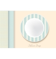 Decorative dishes template vector image vector image