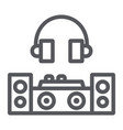 dj line icon party and music dj mixer sign vector image