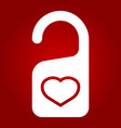 do not disturb with heart glyph icon vector image vector image