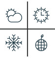 Ecology icons set collection of sun clock snow vector image