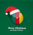 flag of cameroon merry christmas and happy new vector image