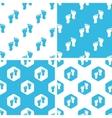 Footprint patterns set vector image vector image