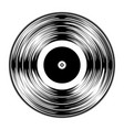 gramophone black vinyl lp record silhouette vector image vector image
