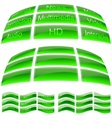 Green Glass Buttons vector image vector image