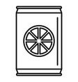 healthy orange soda icon outline style vector image vector image