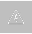 High voltage computer symbol vector image vector image