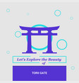 lets explore the beauty of torii gate itsukushima vector image