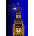 London Mew Years Eve vector image vector image