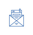 mailing list line icon concept mailing list flat vector image vector image