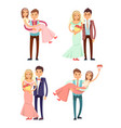 married couples collection vector image