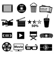 movie and cinema icons set eps10 vector image vector image