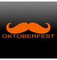 Octoberfest symbol with a red mustache vector image