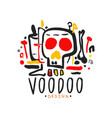 original hand drawn voodoo magic logo design vector image vector image
