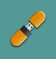 photo realistic mock-up flash drive vector image vector image