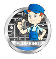 plumber for repair vector image vector image
