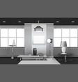 realistic loft interior 3d design vector image vector image