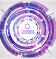 round purple futuristic background vector image vector image