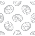 seamless pattern of hand-drawn leaves vector image vector image