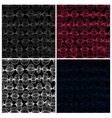 Set of seamless patterns Colorful lines on black vector image vector image