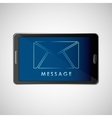 smartphone concept email message chat icon vector image vector image
