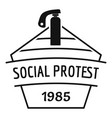 social protest riot logo simple black style vector image vector image