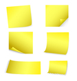 yellow post-it set vector image vector image