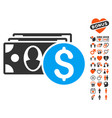 cash icon with lovely bonus vector image
