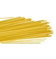 italian raw pasta spaghetti realistic vector image