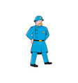 New York Policeman Vintage Standing Cartoon vector image