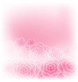 beautiful pink rose flower background vector image