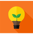 Growing plant inside idea lamp vector image