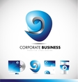 Abstract sphere sign business logo icon design vector image vector image