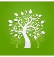Abstract trees on green background vector image vector image