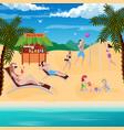 beach bar vacation composition vector image vector image