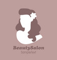 beauty salon icon silhouette of pin up girl with vector image