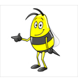 bee pointing vector image vector image