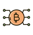 bitcoin cryptocurrency money digital business vector image