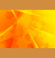 bright orange polygonal autumn background vector image