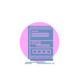 browser dynamic internet page responsive glyph vector image vector image