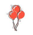 cartoon air balloon icon in comic style birthday vector image vector image