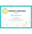 Certificate of appreciation template nature theme vector image