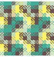 checked geometric print vector image vector image