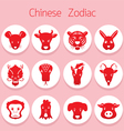 Chinese Zodiac Icons Set vector image vector image