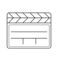 clapboard line icon vector image