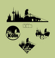 cologne city logo icons set in silhouette vector image