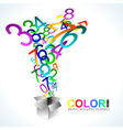 Color background Numbers vector image vector image