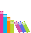 Colorful Office Folders Background vector image