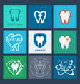 dental logo set dental icon collection vector image vector image